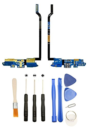 Games&Tech USB Charging Port Dock Mic Flex Cable + Tools for Samsung Galaxy S4 IV SPH-L720 Sprint ()
