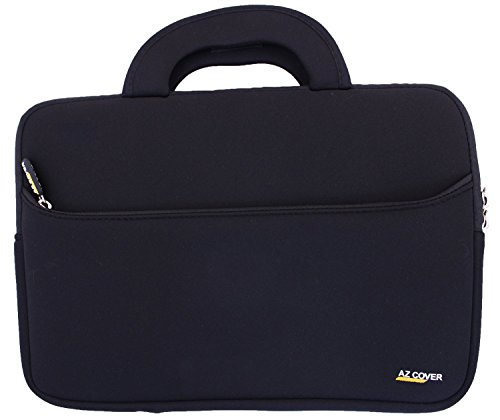 "AZ-Cover 11-Inch Laptop Tablet Sleeve case (Black) with Handle for Sony-VAIO Tap 11 11.6"" 2-in-1 Touch-Screen Notebook PC Laptop SVT11213CXB"