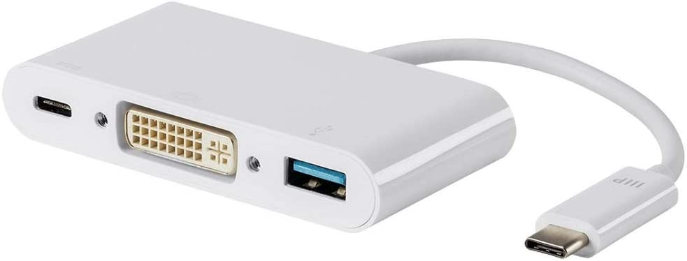 Monoprice USB-C VGA Multiport Adapter - White, With USB 3.0 Connectivity & Mirror Display Resolutions Up To 1080p @ 60hz - Select Series (115759)