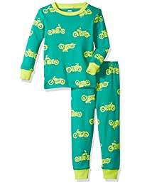 Amazon Essentials Baby Boys Long-Sleeve Tight-fit 2-Piece Pajama Set
