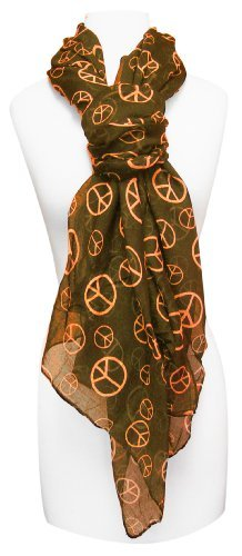Peach-Couture-Fashionable-Lightweight-Peace-Sign-Design-Scarf-Shawl
