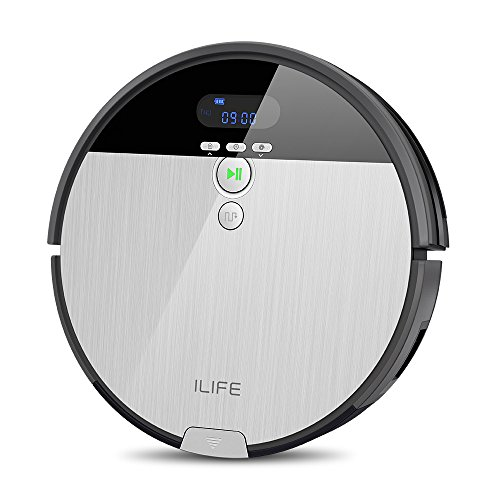 ILIFE V8s Robotic Mop&Vacuum Cleaner with 750ML Big Dustbin, LCD Display and Multi-Task Schedule Function, Higher Suction Power Design for Hard Floors ¡­