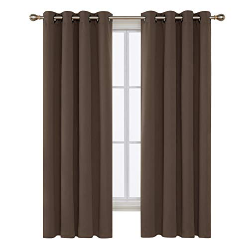 Deconovo Blackout Curtains Thermal Insulated Curtains Gromme