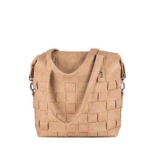 Due borsa a mano Conny cy12-Z Borsa a tracolla borsa a mano in similpelle, colore: grano intrecciati