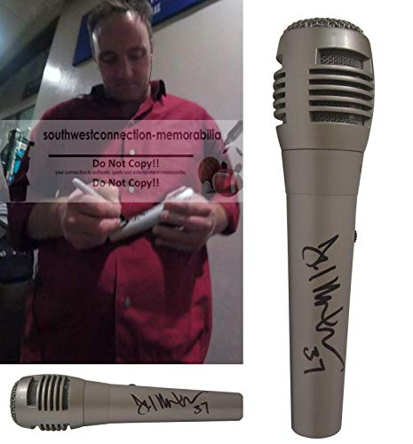 Jay Mohr Signed Hand Autographed Microphone with Exact Proof Photo of Jay Signing the Mic, Saturday Night Live, Jim Rome Show, Jerry Maguire, Fox Sports Radio, COA