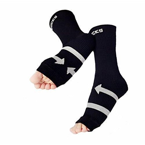 1 Ankle VENI Unisex Fasciitis of pair MASEE Black pack Sleeve Plantar socks Support Compression gI6Iqxwr