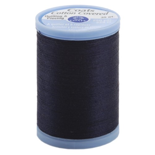 COATS & CLARK S925-4900 Cotton Covered Quilting and Piecing Thread, 250-Yard, Navy