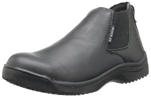 Skidbuster 5073 Men's Leather Slip Resistant Romeo Black choice for sale Z0iDIP3hHO