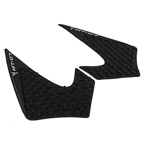 White GZYF Motorcycle Tank Traction Side Pad Gas Fuel Knee Grip Protector Compatible with 2017-2018 YAMAHA YZF R6
