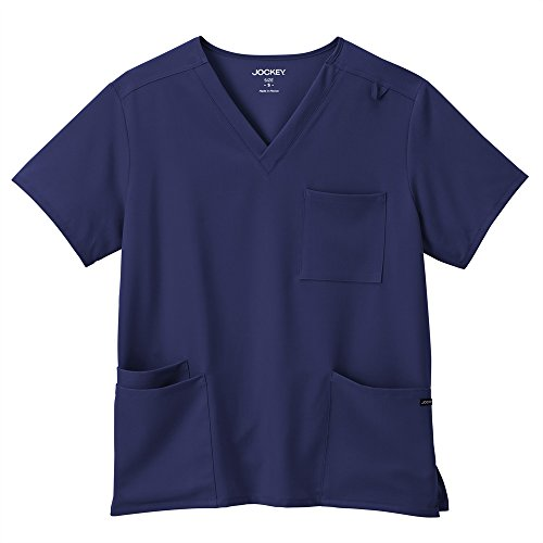 Classic Fit Collection By Jockey Unisex V-Neck Solid Scrub Top XX-Large New Navy