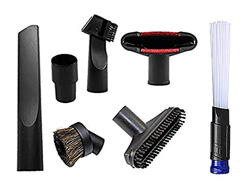 ANBOO Universal Replacement 32mm (1 1/4 inch) Vacuum Cleaner Accessories Brush Kit for Standard Hose Set of 7 ()