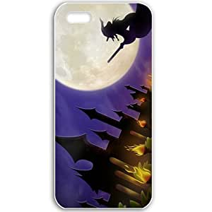Apple iPhone 5 5S Cases Customized Gifts For Holidays Whitch on her broom Holiday 11736 White