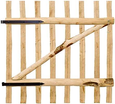 vidaXL Puerta para Valla de Jardín 100x100 cm Madera de Avellano Cancela Cerca: Amazon.es: Bricolaje y herramientas