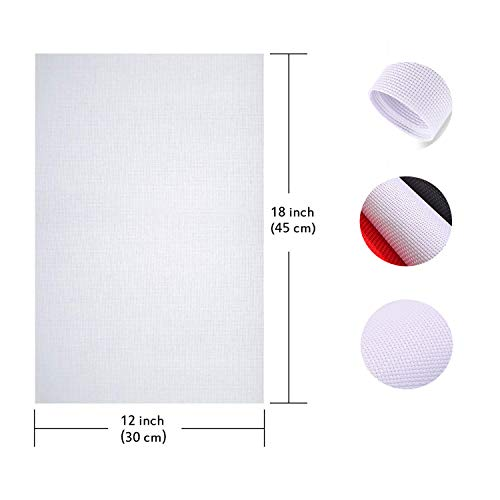 Cross Stitch 4 Pieces White Classic Cotton Natural Cloth Embroidery Fabric for Cushions, Pillows,Cross-Stitch DIY