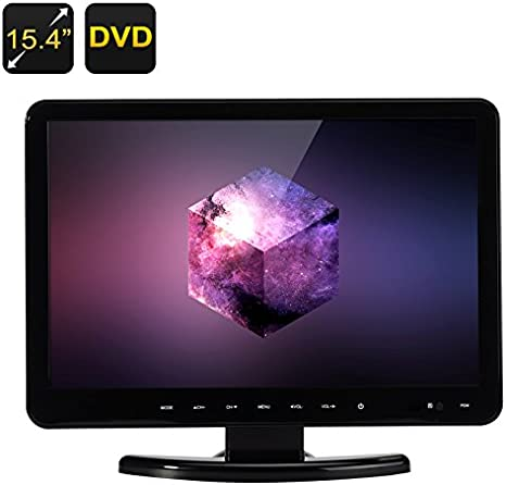 15.4 pulgadas TFT LCD Monitor – Full HD, 16: 9, reproductor de DVD, TV y VGA, HDMI, USB, SD coche lente de Hitachi: Amazon.es: Electrónica