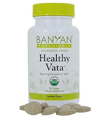 Banyan Botanicals Healthy Vata - USDA Organic, 90 tablets - Grounding & Nourishing - Balances Vata Dosha*