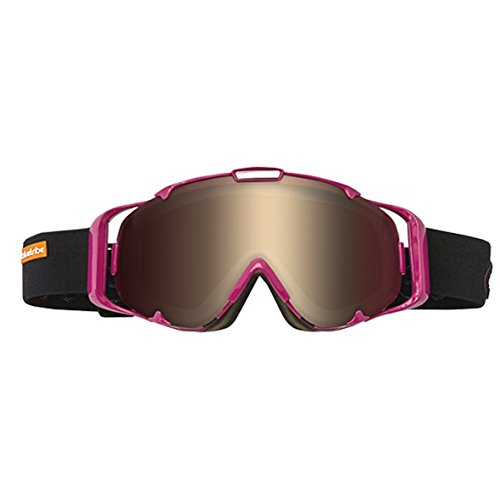 Bluetribe Ski Casque Mixte, Noir Shield Pink