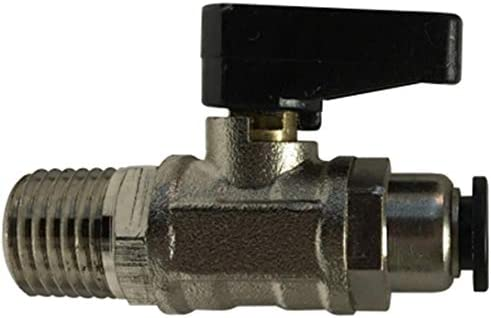 5//32 Push-In x 1//8 Male Pipe 5//32 Push-In x 1//8 Male Pipe Midland Metal Midland 28403 Chrome Plated Brass Mini Ball Valve
