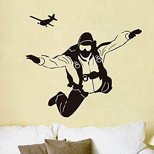 Profit Decal Extreme Sports Skydiving Pilot Plane Home Removable Kids Bedroom Art Wallpaper - Wall Decals Mural Decor Vinyl Z7494