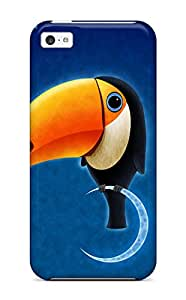 Fashion Tpu Case For Iphone 5c- Toucan Bird Defender Case Cover