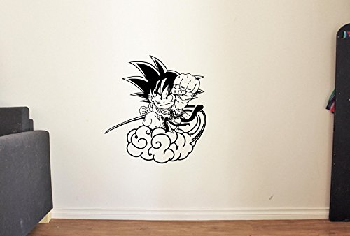 ResorvDecals Anime Wall Decal for Boys Girls Baby Fight Dragon Ball Z Sword Decor Vinyl Stickers Mural MK3201