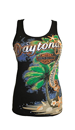 Bruce Rossmeyers Daytona Harley-Davidson X-Large Custom Daytona Paradise Dealer Tank Black ()