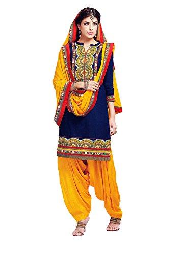 Ladyline Womens Cotton Indian Patiala Salwar Kameez Embroidered Suits Pakistani