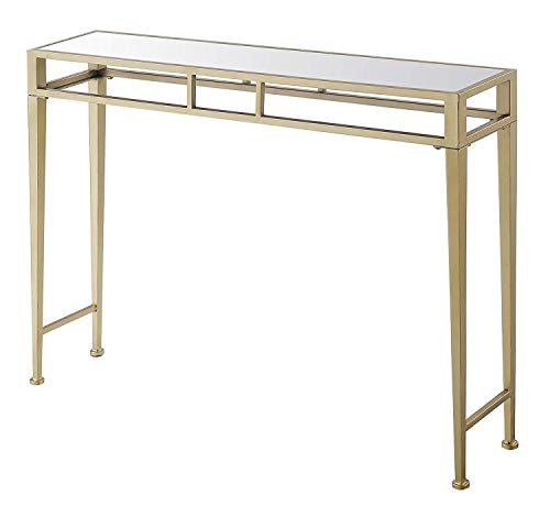 Convenience Concepts 227899MRG Hall Console Table, Mirror Top/Gold Frame (Table Mirrored Hall)