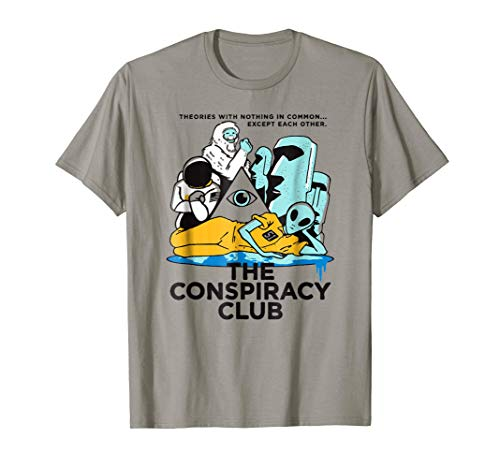 The Conspiracy Club t-shirt bigfoot, alien, Astronaut