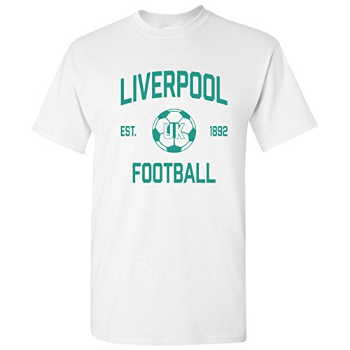 Liverpool UK Away Kit World Classic Soccer Football Arch Cup T Shirt - Large - White
