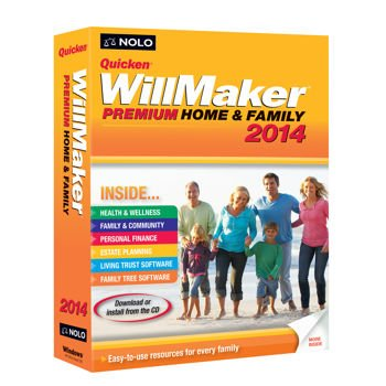 Quicken WillMaker Premium 2014 Home & Family - with Living Trust Maker software by Nolo