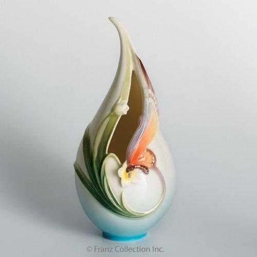 Vase Papillon (Franz Fine Porcelain