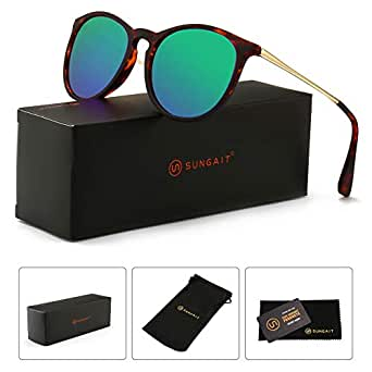 9a12a028de Amazon.com  SUNGAIT Vintage Round Sunglasses for Women Classic Retro ...
