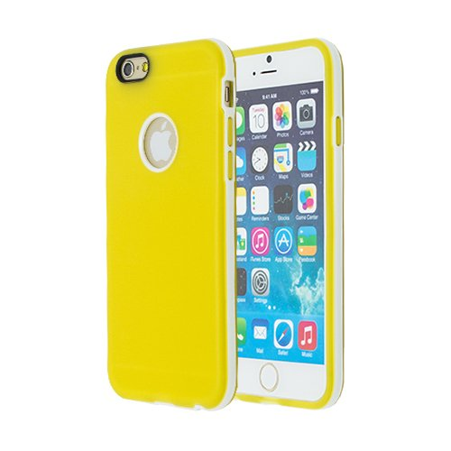 WEGACELL TPU Case Smooth with Frame iPhone 6 Plus, 6s Plus yellow