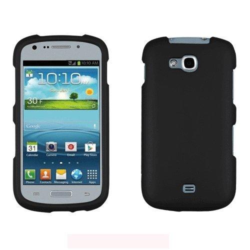 [ManiaGear] Black Rubberized Shield Hard Case for Samsung Galaxy Axiom R830  (US Cellular)