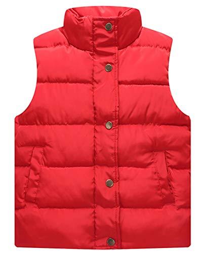 (Capturelove Big Girls Standing Collar Puffer Vests Waistcoat - 12 )