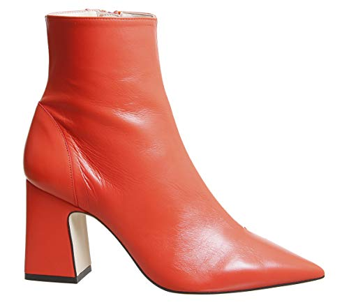 Red Pointed Alto Heels Office Leather Block 70IfS6Wqw
