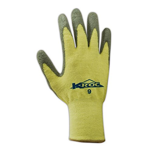 Magid Glove & Safety KEV8627-6 K-ROC KEV8627 Para-Aramid PU Palm Coated Gloves, Cut Level 4, Size 6, Yellow (Pack of 12) by Magid Glove & Safety (Image #2)