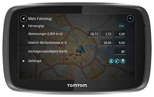 TomTom Trucker 6000 LKW-Navigationsgerät (15 cm (6 Zoll) kapazitives Touch Display, Sprachsteuerung, Click&Go-Halterung, Traffic/Lifetime LKW-Karten) schwarz