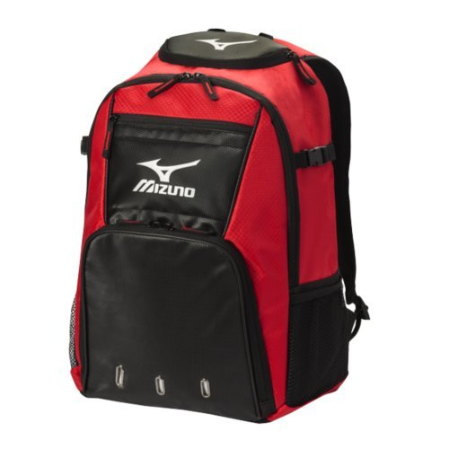 Mizuno 360226.1090.01.0000 Organizer G4 Backpack One-Size Red-Black -