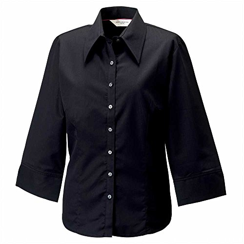 Black 3 Shirt 4 Womens Russell Sleeve xfnPvpqzw