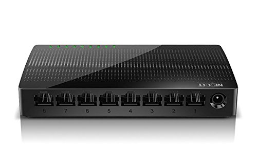 Nexxt Solutions Naxos800G 8-Port Gigabit Fast Ethernet Network Switch- Smart Plug and Play- Unmanaged Desktop Switch- Internet Splitter- 10/100/1000 Mbps Speeds