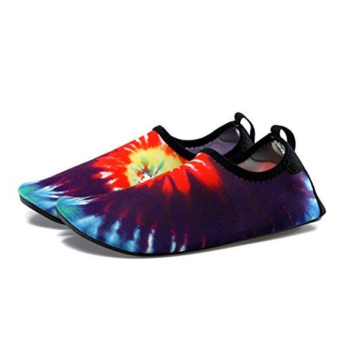 kissavi Damen Herren Aqua Schuhe Badeschuhe Schwimmschuhe Wasserdicht Schnell Trocknend Schuhe,Sommer Wasserschuhe Surfschuhe Barfuß Schuhe 1