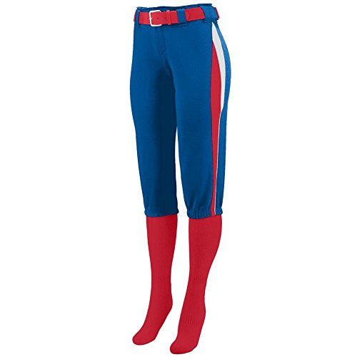 Price comparison product image Augusta Activewear Girls Comet Pant, Royal/Red/White, Small