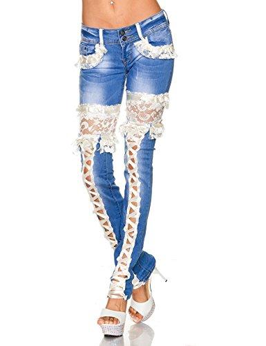 TOBA & CO - Vaqueros - para mujer Bleu - Bleu/crème
