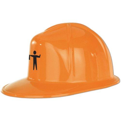 Printed Orange Plastic Construction Accessory