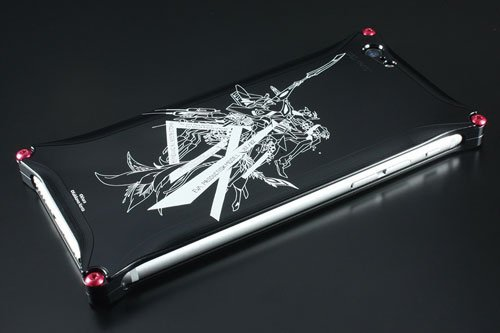 Abstract EVANGELION Solid Case for iPhone6/6 s (AIAWA KENTA) No. 2 (black)