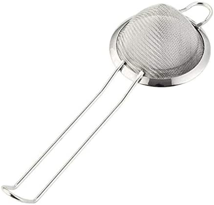 OHOME 1 PC Fine Mesh Strainer Cocktail Strainer Stainless Steel Great for Removing from Juice Cake Milk Tea Coffee Bar Bartending Tool,MJ