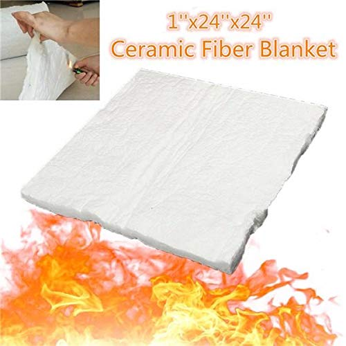 Stock_Home, Raw Materials, 24x24x1 Inch Aluminum Silicate High Temperature Insulation Ceramic Fiber Blanket
