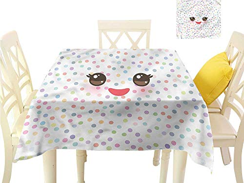 WilliamsDecor Kitchen Table Cover Eyelash,Kawaii Funny Muzzle BBQ Tablecloth W 50